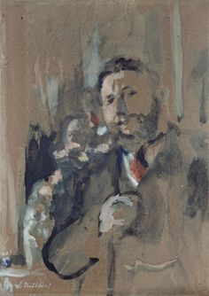 Vuillard, Edouard French (1868-1940) Thadée Natanson (1868-1951) 1906 Drawing watercolor, gouache, with touches of oil paint on cardboard, mounted on cradled panel