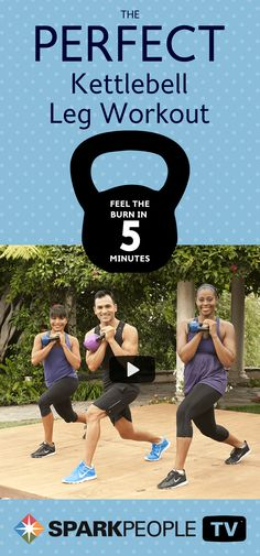 Looking for a dynamic fitness routine using kettlebells that strengthens your legs? This is the workout for you,  which uses kettlebell assisted side, back, and forward lunge exercises that really focus on sculpting your legs!