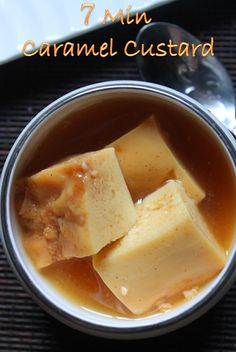 YUMMY TUMMY: Microwave Caramel Custard Recipe - Egg Custard Pudding Recipe--think I'd like it without the caramel sauce--might try with milk instead Microwave Custard Recipe, Mango Custard Recipe, Egg Pudding Recipe, Baked Custard Recipe, Caramel Custard Recipe, Egg Custard Recipes, Caramel Pudding, Custard Pudding, Custard Desserts