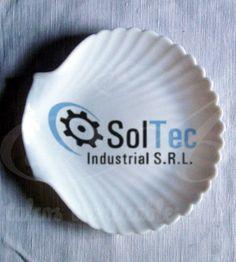 Calco vitrificable de la empresa Soltec a dos colores.