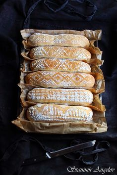 Love the pattern on these Homemade Baguettes