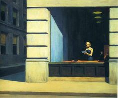 New York Office, 1962 by Edward Hopper. New Realism. cityscape