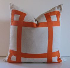 Natural Cotton Pillow 20 22 24 26 inch by studiotullia, $78.00