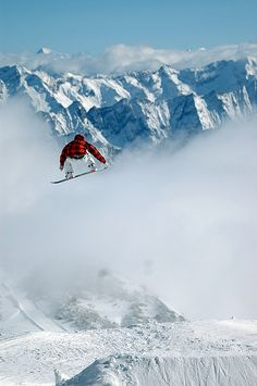 Air. jump. snow