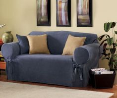 Ultra-Soft Sueded Microfiber Slipcovers from Through the Country Door®