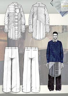Fashion Sketchbook - fashion illustration; fashion design process; fashion portfolio // Niall Cottrell