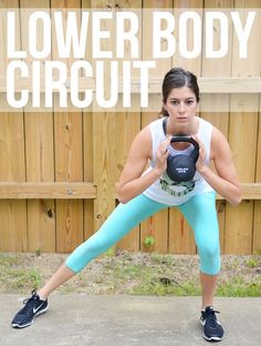 Legs & Butt Stacked Circuit Workout - this one takes just 13 minutes and you'll add on an exercise each round. Perform this fitness routine at the gym or at home with just a few pieces of gym equipment.