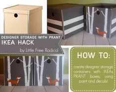 DIY - IKEA Hack with PRÄNT boxes - paint + Decals = Easy!