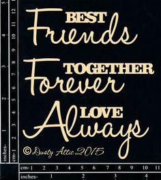 The Dusty Attic - DA1281 Best Friends...