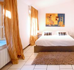 Spacious bedroom at one of our two Yoga and Pilates Hotels in Denia,  Costa Blanca Spain