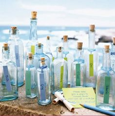 cute beach glass bottles