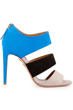 Aquazzura ~  Summer Color Block Sandal w Zipper Detail 2015