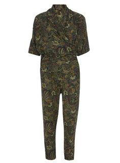 Ruby Rocks Khaki Kimono Wrap Jumpsuit