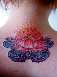 Vibrant Lotus Tattoo