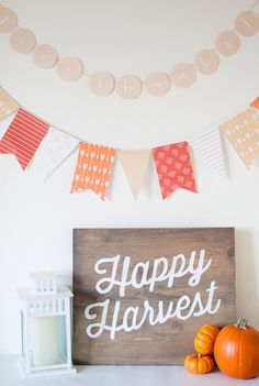 Printable Fall Banner for Thanksgiving, Halloween, and all fall festivities.