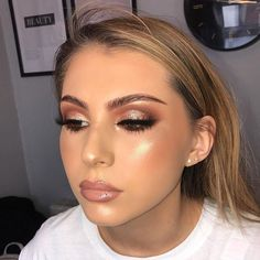 Magical make-up tips for the perfect make-up - Halloween make-up ideas . - augen make up Prom Makeup Looks, Glam Makeup Look, Fall Makeup Looks, Cute Makeup, Gorgeous Makeup, Simple Prom Makeup, Perfect Makeup, Makeup Geek, Makeup Art