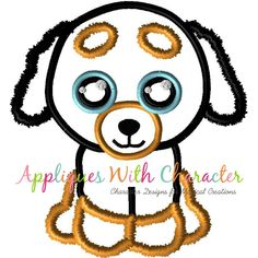 5d666152956 Beanie Boo Doggy Applique Design by Appliques With Character Beanie Boos