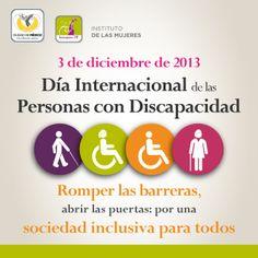 3/dic. Por una sociedad inclusiva para todos. Día Internacional de las Personas con #Discapacidad.