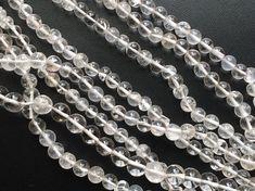Crystal Quartz Beads Crystal Quartz Plain Round by gemsforjewels