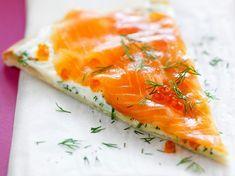 Découvrez la recette Tarte au saumon fumé sur cuisineactuelle.fr.