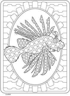 Creative Haven SeaLife Lionfish--Welcome to Dover Publications