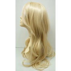 Long 23 Inch Blonde 613 Straight Wig Heat Resistant Wig Boho Wig... ($50) ❤ liked on Polyvore featuring beauty products, haircare, hair styling tools, bath & beauty, grey, hair care and wigs