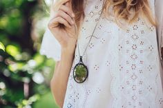 trending, Terrarium necklace, terrarium necklaces, green Moss Necklace, dried moss, oval necklace,cottage chic jewelry, MARIAELA