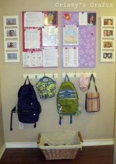 Praise the Lord for organized mommies with blogs!  Her school organization ideas are totally DIY and smart!