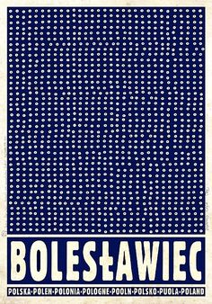 Boleslawiec, Bunzlau - city famous from traditional white blue pottery, Promotion poster Poster from new series of posters promoting Poland Check also other posters from PLAKAT-POLSKA series Original Polish poster designer: Ryszard Kaja year: 2012 size: Graphic Design Illustration, Illustration Art, Polish Posters, Blue Pottery, Travel Posters, Tourism Poster, Vintage Posters, Delft, Museum
