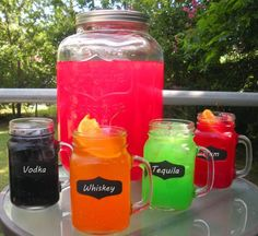 Add dry Kool-Aid mix to a bottle of booze = delicious shots!