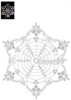 Decorate the house with Christmas snowflakes: 58 crochet options - Fair Masters Crochet Snowflake Pattern, Crochet Stars, Crochet Snowflakes, Doily Patterns, Thread Crochet, Crochet Stitches, Crochet Patterns, Crochet Diagram, Crochet Motif