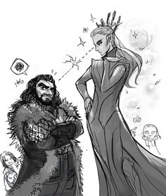 Thorin and Thranduil being majestic and fabulous.