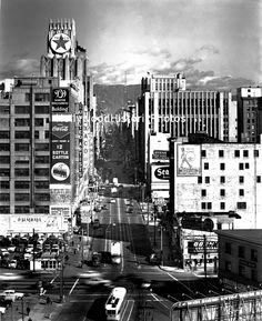 CENTRAL L.A. | DOWNTOWN LOS ANGELES:  9th Street & Olympic Boulevard, 1954