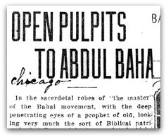 Open Pulpits to 'Abdu'l-Bahá