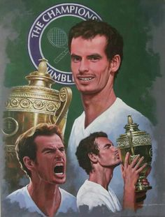 Andy Murray winning Wimbledon by Craig Campbell