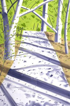 Alex Katz (American, b. 1927), Path, 2006, Oil on linen, 72 x 48 in.