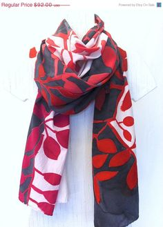 hand painted silk scarf - gorgeous