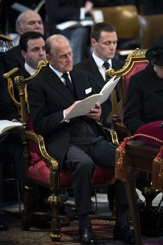 Prince Philip attending the funeral of Baroness Thatcher at St. Elizabeth Philip, Queen Elizabeth Ii, Prins Philip, Duke Edinburgh, British Family, Queen Pictures, Isabel Ii, House Of Windsor, Dining