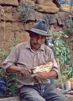 Mask Carver Michoacan Mexico
