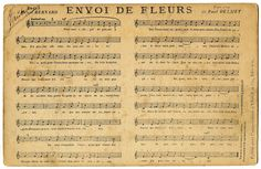 Click on Images to Enlarge Aren't these lovely?! This is an antique French Postcard, circa 1898, that has French Sheet Music on the front! The song is called Envoi de Fleurs (Sending Flowers). I researched this one a bit, it was originally written in the 1860's and I actually found a recording of it on...Read More »