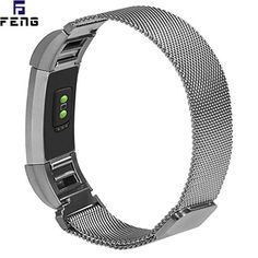 Fitbit Charge 2 Bands MetalStainless Steel Replacement Band Bracelet Strap Wristbands Milanese Loop with Magnetic Clasp Large SmallNo Buckle Needed for Fitbit Charge 2 HR Fitness Tracker -- You can get more details by clicking on the image. (This is an affiliate link) #FitnessWristbands
