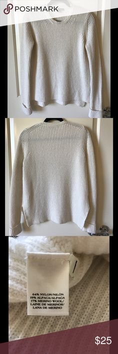 Ann Taylor High Low Sweater Cream and cozy!  Goes great with jeans or trousers!  Worn once.  Like new. Ann Taylor Sweaters Crew & Scoop Necks