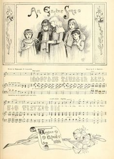 Free printable Vintage Easter Song Sheet from Crafty Secrets