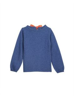 Oscar de la Renta GIRLS' CASHMERE BOW TOP, $225