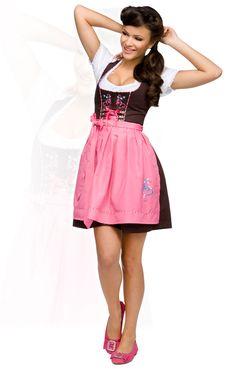 Stockerpoint Minidirndl 3tlg. Kathy pink 50 cm Wiesn Dirndl