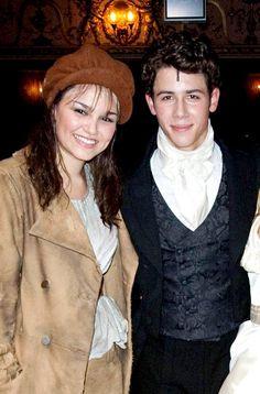 Sam and Nick Jonas aka Eponine and Marius