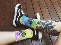 Santa Cruz tie-dye socks
