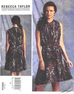 VOGUE 1394 - FROM 2014 - UNCUT - MISSES DRESS