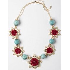 Anthropologie Rosebud Necklace