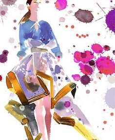 Who: @bildonovan Follow for: Gorgeous, colorful watercolor sketches straight from the top runways and more.